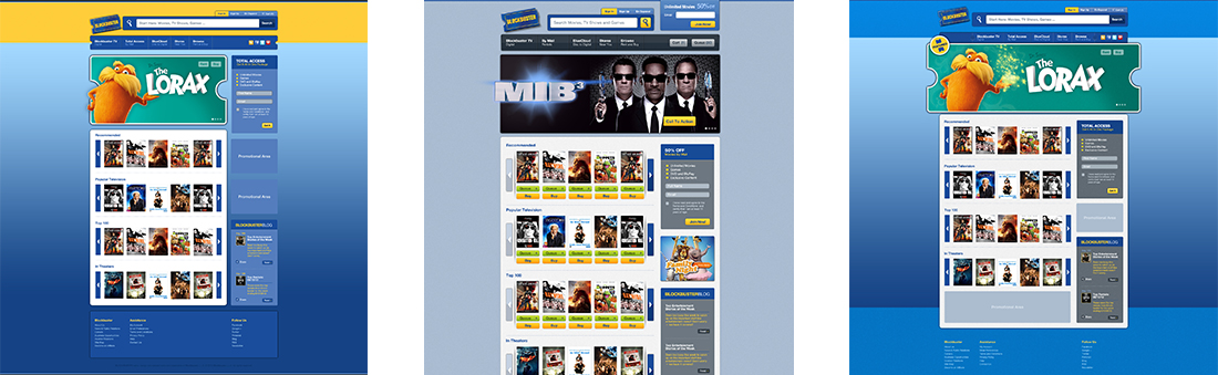 Blockbuster | Web + Interface Design | Denver, CO