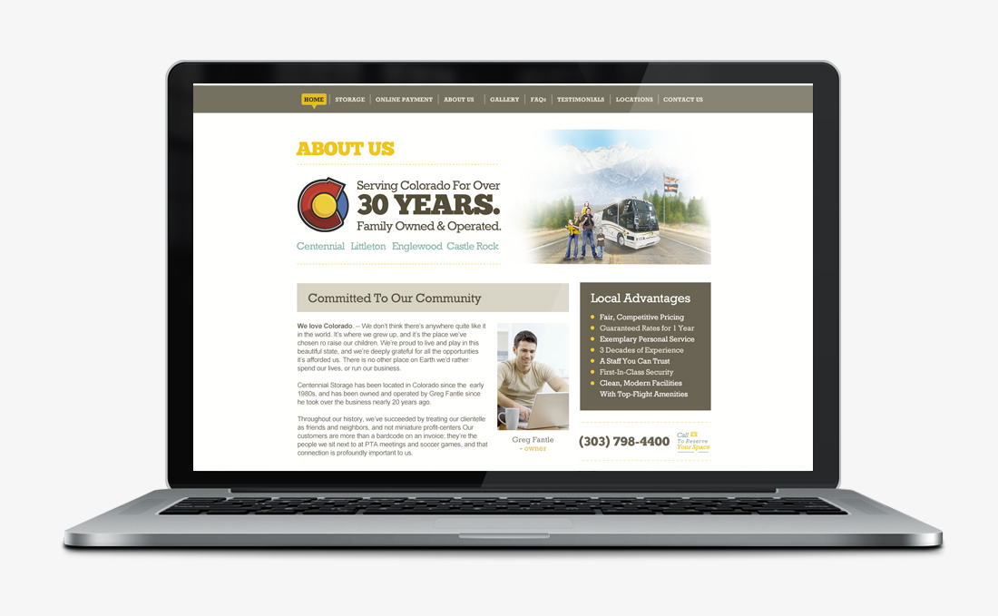 Centennial Storage | Web Design + Branding | Denver, CO