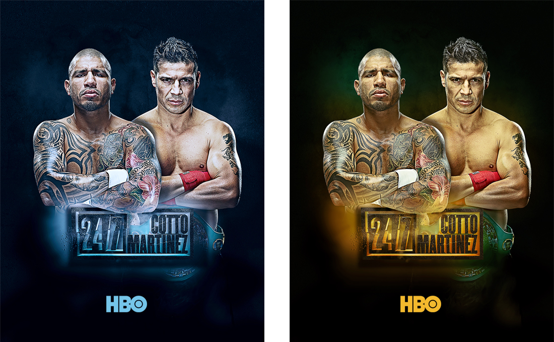 HBO Fight Posters | Print + Graphic Design, 3D Logo | Denver, CO
