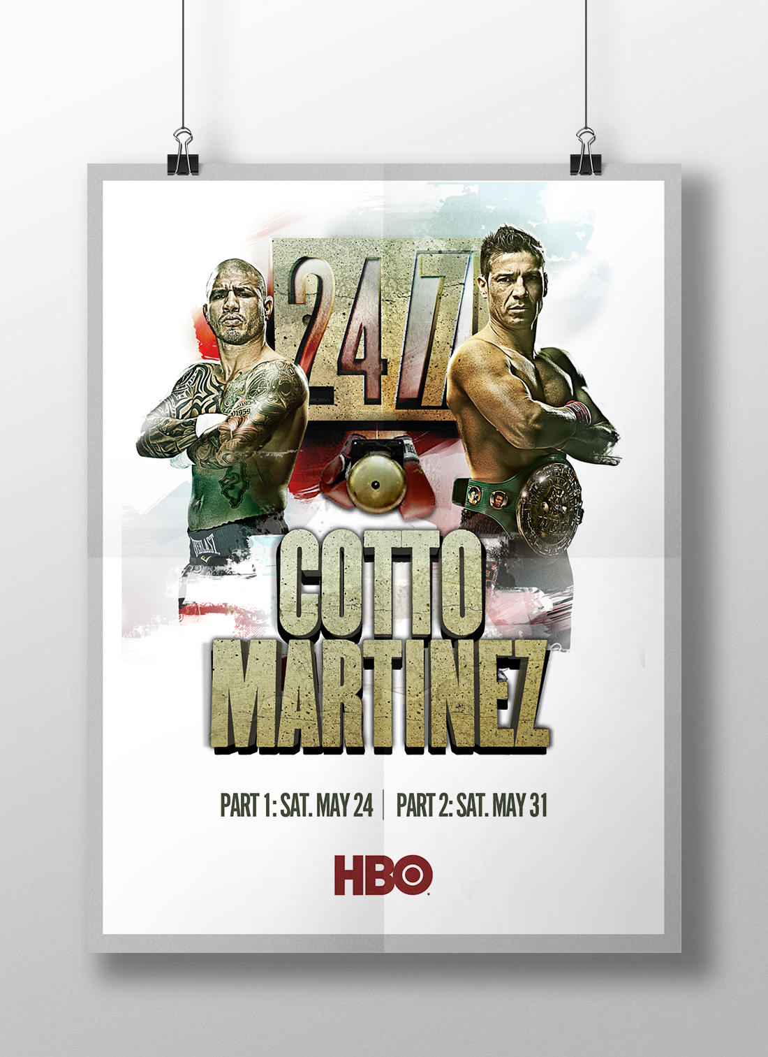 HBO Sport | Cotto Martinez | Graphic Design | Denver, CO