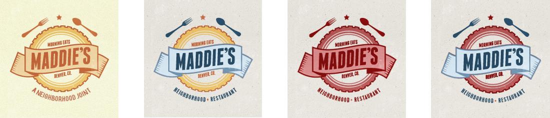 Maddie's Restaurant - Final Branding / Logo Design Candidates