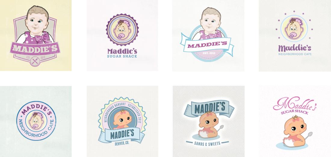 Maddie's Restaurant - Unselected Branding + Logo Design