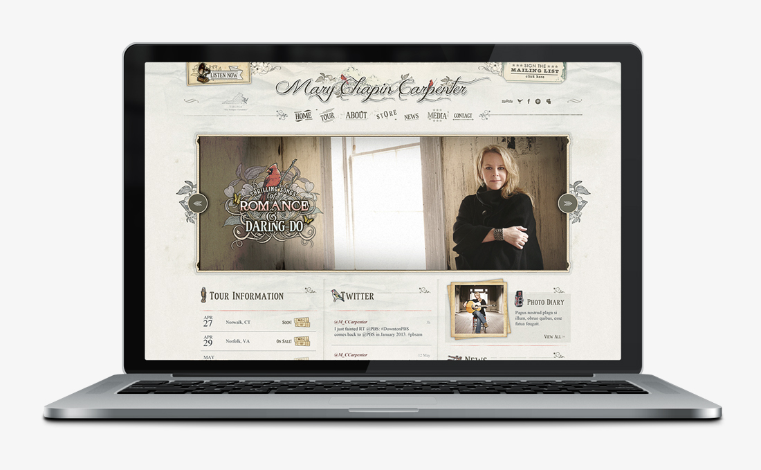 Mary Chapin Carpenter | Web Design + Branding | Denver, CO