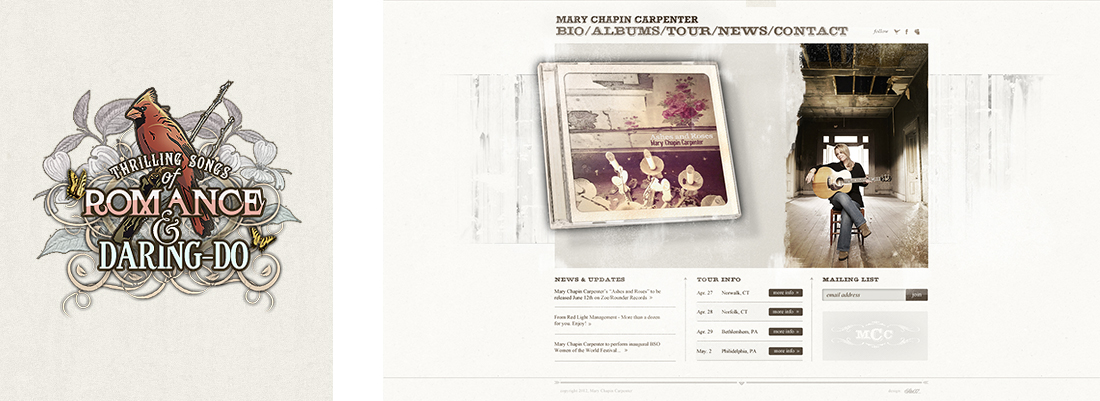 Mary Chapin Carpenter | Web + Graphic Design | Denver, CO