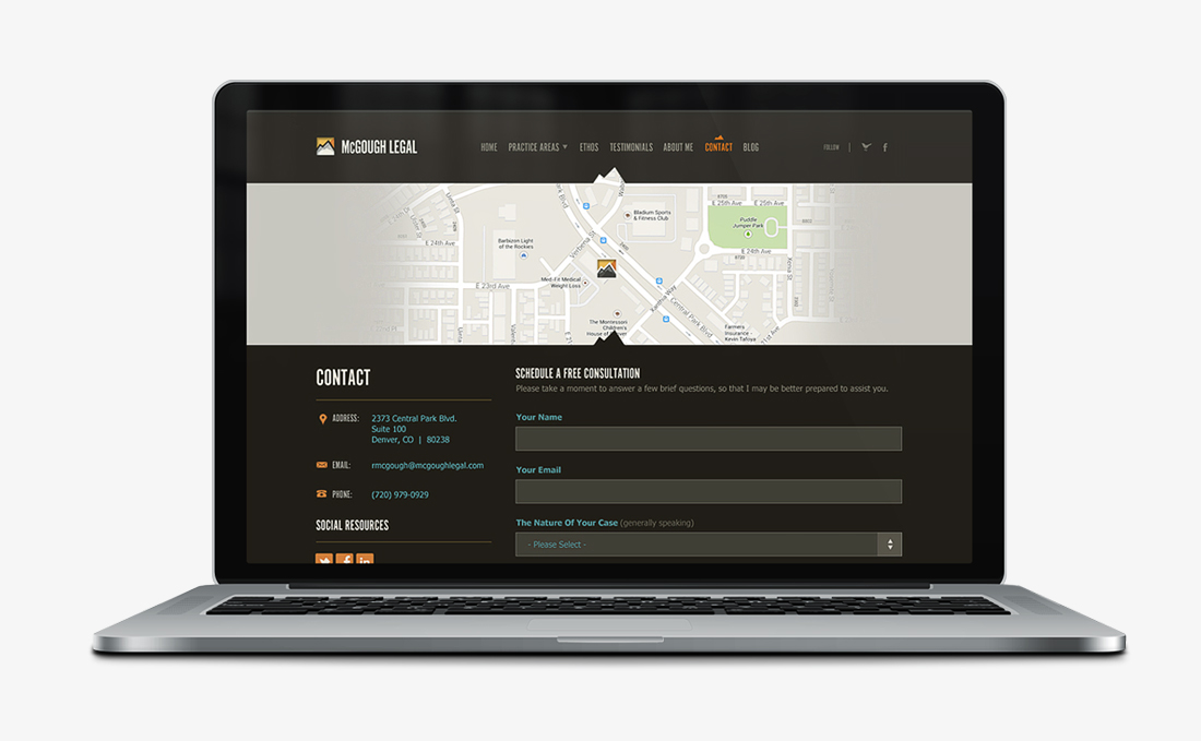 McGough Legal   Branding + Web Design   Denver, CO