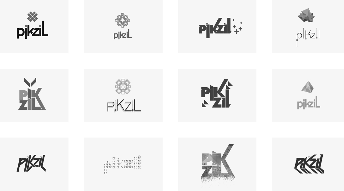 piKziL - Unselected Logo Design Concepts